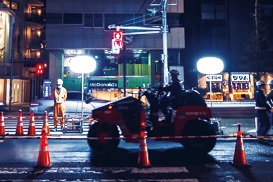 Balloon lights are being used on construction projects.