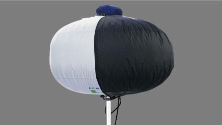 An ordinary balloon with light shielding.